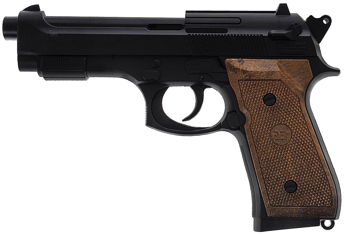 Edison Пистолет Parabellum0263/26Пистолет Edison Parabellum - удобное и качественное детское оружие. Стрельба производится легким нажатием на курок. Игрушечный пистолет Parabellum станет незаменимым помощником вашему маленькому полицейскому или солдату. Идеально подходит для активных ребят и непосед. Все игрушки компании Edison Giocattoli производятся в Италии, обладают высокими показателями качества и долговечности. Игрушка изготовлена из безопасных, нетоксичных и качественных материалов, безопасных для здоровья детей. Емкость магазина: 13 пистонов (в комплект не входят).