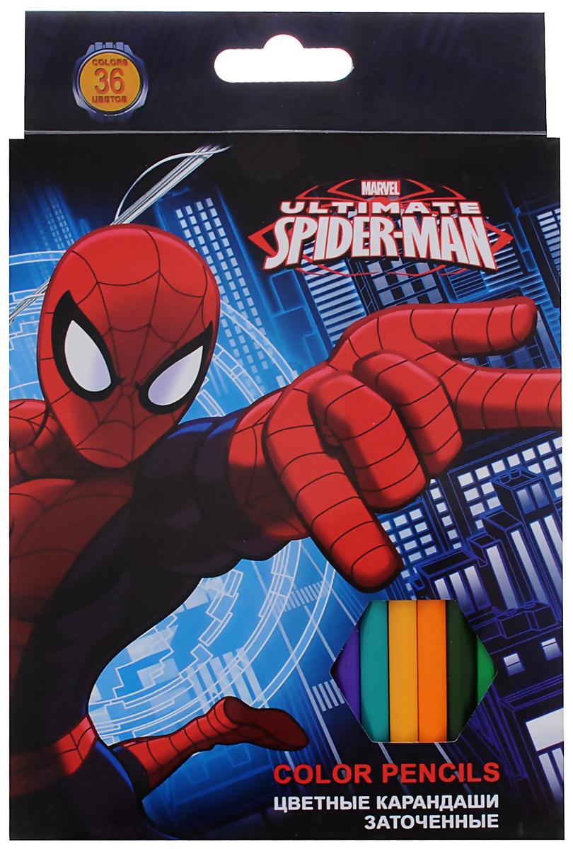 Ultimate Spider-Man Набор цветных карандашей 36 цветовSMAB-US1-1P-36Цветные карандаши Ultimate Spider-Man откроют юным художникам новые горизонты для творчества, а также помогут отлично развить мелкую моторику рук, цветовое восприятие, фантазию и воображение. Классический шестигранный корпус изготовлен из натуральной древесины, гладкость которого обеспечена многослойной покраской. Каждый карандаш украшен позолоченной эмблемой Человека-Паука. Карандаши удобно держать в руках, а мягкий грифель не требует сильного нажима и легко стирается ластиком. В комплект входят 36 заточенных карандашей ярких насыщенных цветов.