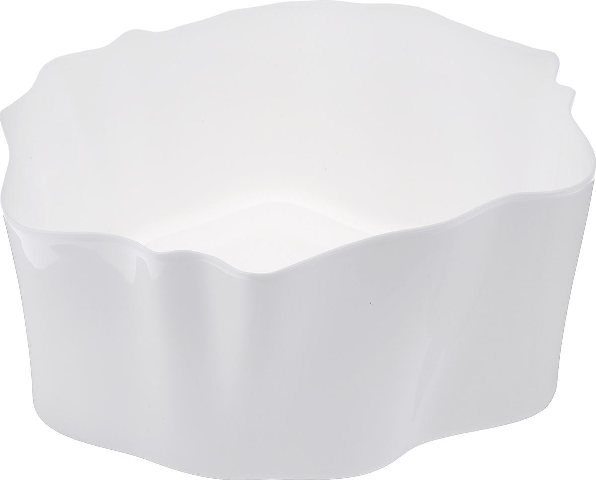 Органайзер Qualy Flow, цвет: белый, 25,5 х 25,5 х 11,5 смQL10143-WHОрганайзер Qualy Flow может пригодиться на кухне, в ванной, в гостиной, на даче, на природе, в городе, в деревне. В него можно складывать фрукты, овощи, хлеб, кухонные приборы и аксессуары, всевозможные баночки, можно использовать органайзер как мусорную корзину, вазу. Все зависит от вашей фантазии и от хозяйственных потребностей! Пластиковый оригинальный органайзер пригодится везде!