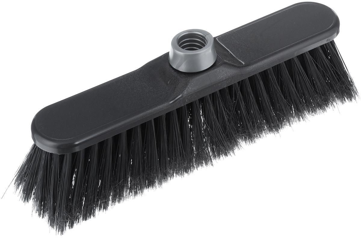 Щетка-насадка для пола Konex ЭКОнекс Иво, цвет: черный, 27 х 6 х 10 смkon64020Щетка для пола Konex ЭКОнекс Иво изготовлена из пластика. Мягкая длинная щетина идеально подходит для уборки пола. Может использоваться как в домашних, так и в промышленных целях. Щетка долговечна и устойчива к погодному воздействию. Универсальная резьба подходит ко всем видам ручек. Щетка станет незаменимым помощником по хозяйству. Длина ворса: 7 см. Диаметр отверстия для черенка: 2,2 см.