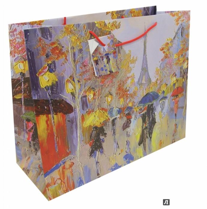 """Пакет подарочный Феникс-Презент """"Дождь в Париже"""", 41 х 16 х 33 см"""
