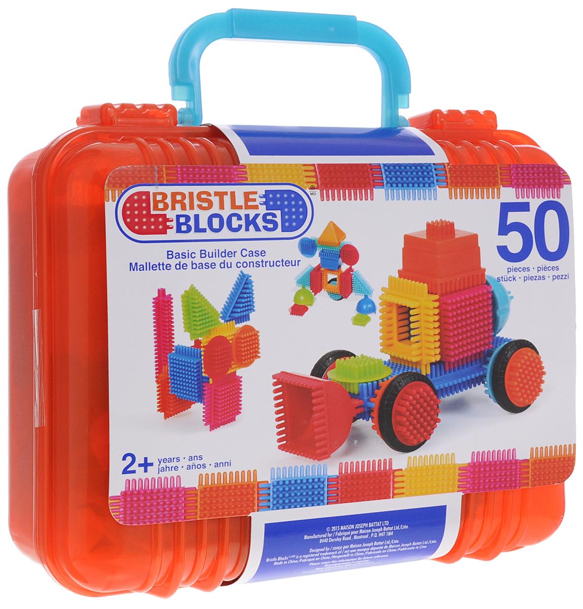 Bristle Blocks Конструктор 68164 цвет красный68164_красныйОригинальный игольчатый конструктор Bristle Blocks - тактильный детский конструктор, который позволит вашему ребенку проявить фантазию. Увлекательный конструктор, состоящий из множества ярких щетинистых блоков разной формы, размеров и цветов. Пластиковые элементы легко и быстро скрепляются, при этом обеспечивая прочное сцепление. Ваш ребенок будет часами сидеть за творческой работой, соединяя необычные игольчатые элементы в уникальные сооружения, напоминающие джунгли. Конструктор содержит 50 элементов, из которых можно собрать конструкции с подвижными частями. Конструктор упакован в пластиковый контейнер с крышкой, удобный для хранения. Крышка контейнера может служить платформой для постройки. Игольчатый конструктор поможет ребенку развить мелкую моторику рук, логическое и пространственное мышление, творческие способности, а также поможет научиться соотносить форму и величину предметов.