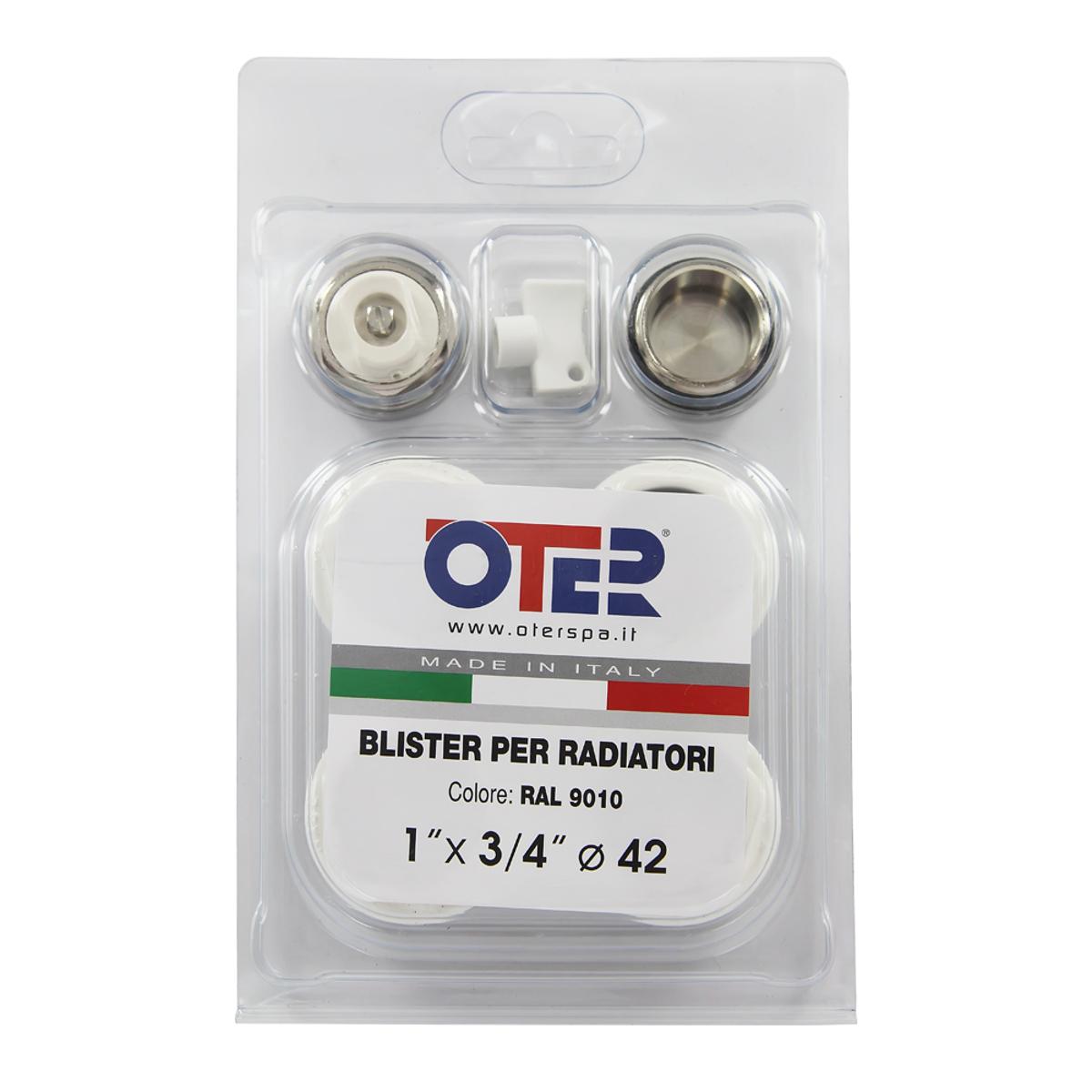 Набор комплектующих для установки радиатора 1х3/4 OTERИС.030071Комплект содержит четыре переходника с резьбы 1 на 3/4, заглушку 3/4, кран маевского 3/4 и ключ для крана маевского. Все резьбовые соединения снабжены прокладками. Диаметр 1: 1 (25 мм) Диаметр 2: 3/4 (20 мм)