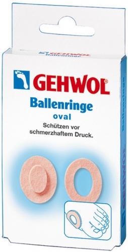 Gehwol Ballenringe oval - Накладки кольцо, овальные 6 шт1*271001Накладки кольцо, овальные (Gehwol Ballenringe oval) благодаря тому, что они, сделанные из мягкого войлока и наличия клеевого слоя, предотвращают малейшие натирания чувствительных участков кожи. Использовать накладки можно не только для предотвращения натираний или на мозолях, но и для чувствительной косточки стопы. Накладки кольца применяются для устранения дискомфорта при выпирающей косточке, искривленных пальцах, и для защиты пальцев от натираний при ношении открытой обуви. С использованием накладок колец, вы не утратите свой привычный образ жизни, сохранив возможность продолжать активно двигаться при этом, не причиняя дискомфорт вашим ногам. Результат: Gehwol Ballenringe oval овальные устраняют натирание кожи между пальцами ног, образование мозолей и участков загрубевшей кожи на пальцах.
