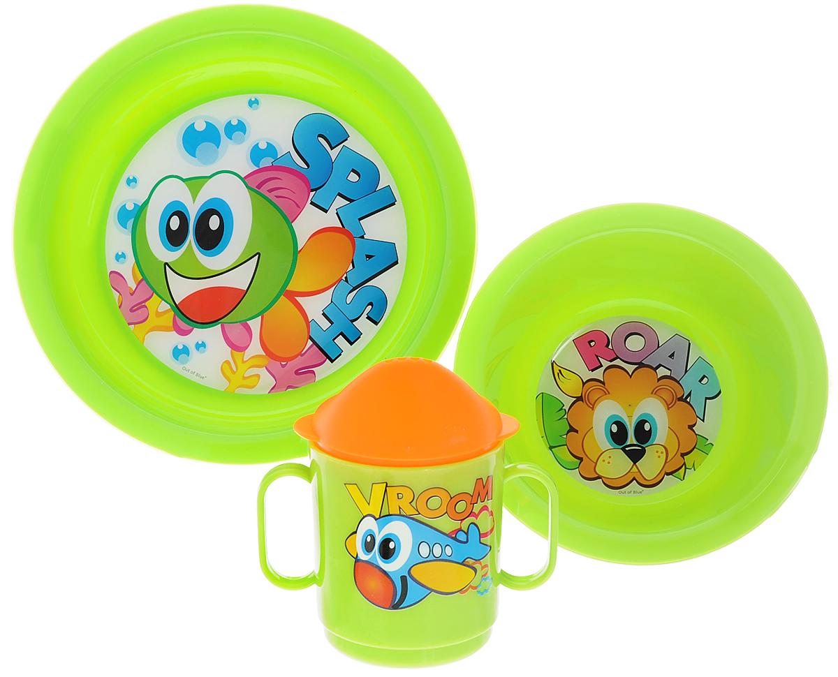 Cosmoplast Набор детской посуды Baby Tris Set Рыбка 3 предмета2548_салатовыйНабор детской посуды Cosmoplast Baby Tris Set. Рыбка состоит из суповой тарелки, обеденной тарелки, чашки с двумя ручками и крышки, при помощи которой чашку можно сделать поильником. Все предметы набора изготовлены из высококачественного пищевого пластика по специальной технологии, которая гарантирует простоту ухода, прочность и безопасность изделий для детей. Предметы сервиза оформлены красочными рисунками, которые обязательно понравятся вашему малышу. Не содержит бисфенол.