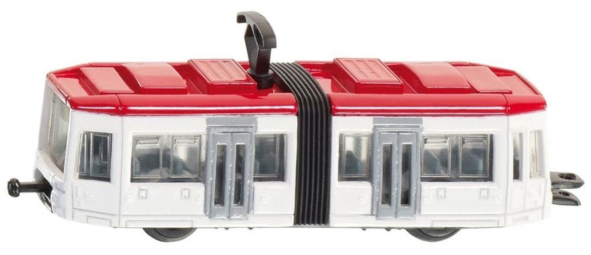 Siku Трамвай цвет белый красный1011Трамвай Siku выполнен из металла с элементами из пластика. Секции трамвая соединены гармошкой, на крыше находится пантограф. Трамвай сзади оборудован сцепным устройством (можно соединить несколько трамваев друг с другом). Сквозь полупрозрачные стекла трамвая видны пассажирские сиденья и место водителя. Такая модель понравится не только ребенку, но и взрослому, и приятно удивит вас высочайшим качеством исполнения.