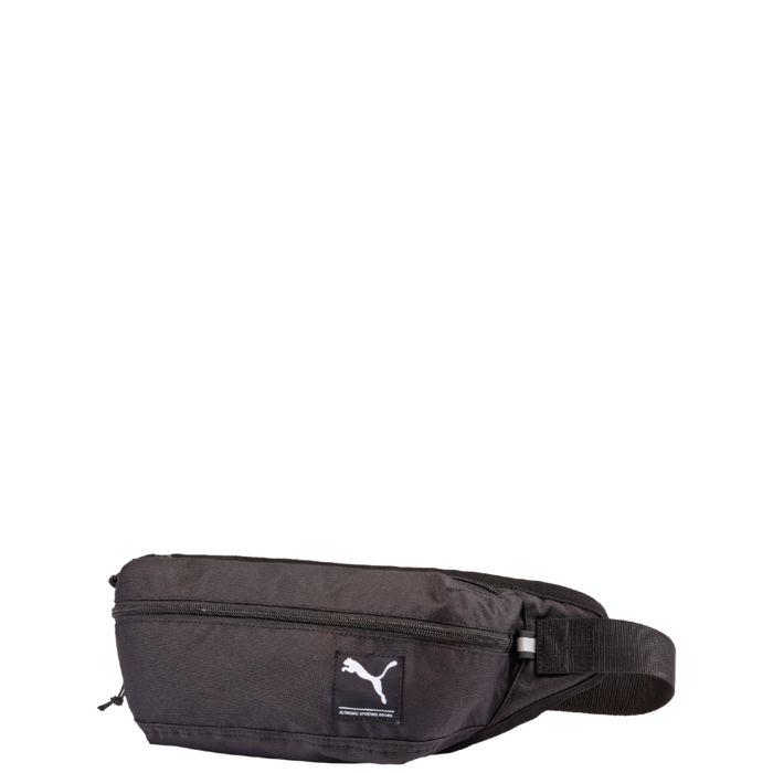 Поясная сумка Puma Academy Waist Bag, цвет: черный. 0729940107299401Эта очень практичная сумка на пояс от Puma поможет носить с собой необходимые предметы в сохранности и порядке. Застежка-молния для главного отделения. Дополнительный карман на молнии спереди – очень практично. Регулируемый пояс и застежка-фастекс. Смягченная внутренняя сторона для улучшенного комфорта.
