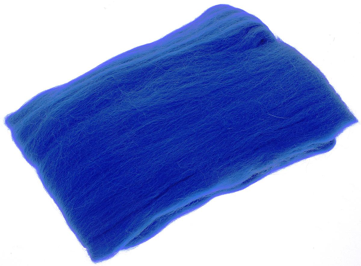 Шерсть для валяния RTO, цвет: синий (04), 50 гWF50/04Шерсть для валяния RTO идеально подходит для сухого и мокрого валяния. Шерсть RTO не линяет при валянии и последующей стирке, легко расчесывается и разделяется на пряди. Готовые изделия из натуральной шерсти RTO хорошо поддаются покраске и тонированию. Валяние шерсти - это особая техника рукоделия, в процессе которой из шерсти для валяния создается рисунок на ткани или войлоке, объемные игрушки, панно, декоративные элементы, предметы одежды или аксессуары. Только натуральная шерсть обладает способностью сваливаться или свойлачиваться.