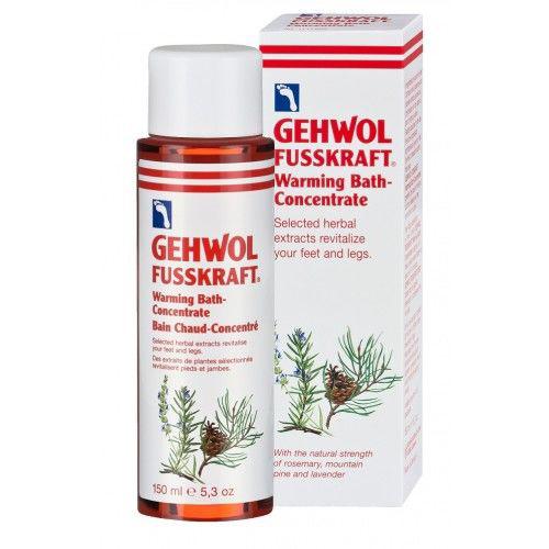 Gehwol Fusskraft Warming Bath Concentrate - Согревающая ванна для ног 150 мл1*11808Согревающая ванна Геволь (Fusskraft Warmebad Gehwol) - это концентрированный экстракт эфирных масел имбиря и красного перца. Она также содержит натуральные вытяжки из розмарина и комбинацию витамина E (профилактика старения кожи) и витаминов группы B (питание, уход). Все активные ингредиенты быстро проникают в кожу, и продолжительное время дают ощущение тепла. Средство также ухаживает за сухой кожей, делает её эластичной и мягкой. Проверено по дерматологическим показателям. Благоприятно применение при заболевании диабетом. Назначение: Устранение эффекта холодных ног. Профилактика простуды.