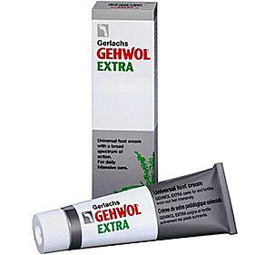 Gehwol Gerlachs Extra - Крем Экстра для ног 75 мл1*24105Крем Экстра Геволь (Gerlachs Gehwol Extra) интенсивно ухаживает и заботится о сильно натруженных ногах. Кожа стоп одновременно дезодорируется и дезинфицируется. Предупреждает появление чувства жжения в ногах, противодействует грибковым заболеваниям, устраняет неприятные запахи ног, смягчает ороговевшие места и мозоли, препятствует возникновению потертостей и мозолей, а также восстанавливает нормальное состояние потрескавшейся, сухой и шелушащейся кожи. Натуральные масла эвкалипта, розмарина, лаванды и тимьяна, присутствующие в Крем Экстра Геволь, оживляют ноги и увеличивают их жизненную силу. Он также усилит кровоснабжение и защити Вас от ощущения холодных и влажных ног. Назначение: Стимулирует кровообращение и защищает ноги от переохлаждения и влажности. Восстанавливает нормальное состояние потрескавшейся, сухой и шелушащейся кожи. Укрепляет кожу ног, защищает от потертостей. Предупреждает грибковые заболевания, образование мозолей и зуд между пальцами, дезодорирует в течение...
