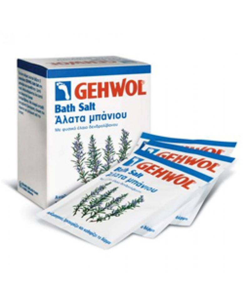 Gehwol Bath Salt - Соль для ванны с розмарином для ног 10*25 гр1*25222Соль для ванны с розмарином Геволь (Gehwol Bath Salt) производит мягкую, но в основательную очистку, стимулирует кровообращение кожи, оживляет ее и укрепляет. Снимающие боль компоненты глубоко проникают сквозь поры кожи и предотвращают повышенное потоотделение и появление запаха от ног. Соль для ванны Геволь подходит как для ванночек для ног, так и для принятия полных ванн для всего тела. Регулярное принятие таких ванн защищает ноги от грибковых инфекций. Ванна обладает нежным ароматом розмарина. Подводный массаж с помощью щетки усиливает от принятия ванны эффект. Назначение: Стимулирует и активизирует кровообращение. Предотвращает чрезмерное потоотделение. Обладает дезодорирующим эффектом. Регулярное применение ванны защищает от грибковых инфекций. Активные компоненты: розмариновое масло, триклозан.