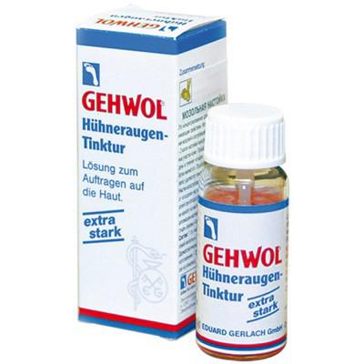 Gehwol Huhneraugen tinktur - Мозольная настойка 15 мл1*25901Мозольная настойка Геволь (Gehwol Huhneraugen tinktur это высококонцентрированное средство с сильным проникающим свойством. Используется для устранения мозолей и загрубевшей кожи. Средство особенно эффективно при удалении поверхностных мозолей и натоптышей. При более глубоком корне мозолей средство эффективно при их высверливании в процессе аппаратного педикюра.