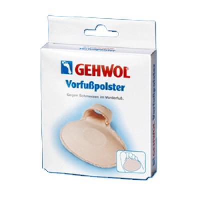 Gehwol Vorfuspolster - Подушечка под пальцы 2 шт1*26502Подушечка под пальцы Геволь (Gehwol Vorfuspolster) мягкая латексная стелька с пропиткой и приятной для кожи перлоновой поверхностью, с петлей для фиксации на пальце. Для поддержки передней части стопы. Противодействует болевым ощущениям, защищает переднюю часть стопы и препятствует образованию ороговелостей. Моющаяся. Рекомендуется как защитное средство при ходьбе в обуви на высоком каблуке. Назначение: защищает от болезненного надавливания участков стопы под пальцами, предотвращает образование натертостей, натоптышей, облегчает шаг. Медицинский продукт. Применение: Подушечку надеть на стопу, зафиксировав специальной петлей на пальце. Количество:2 шт