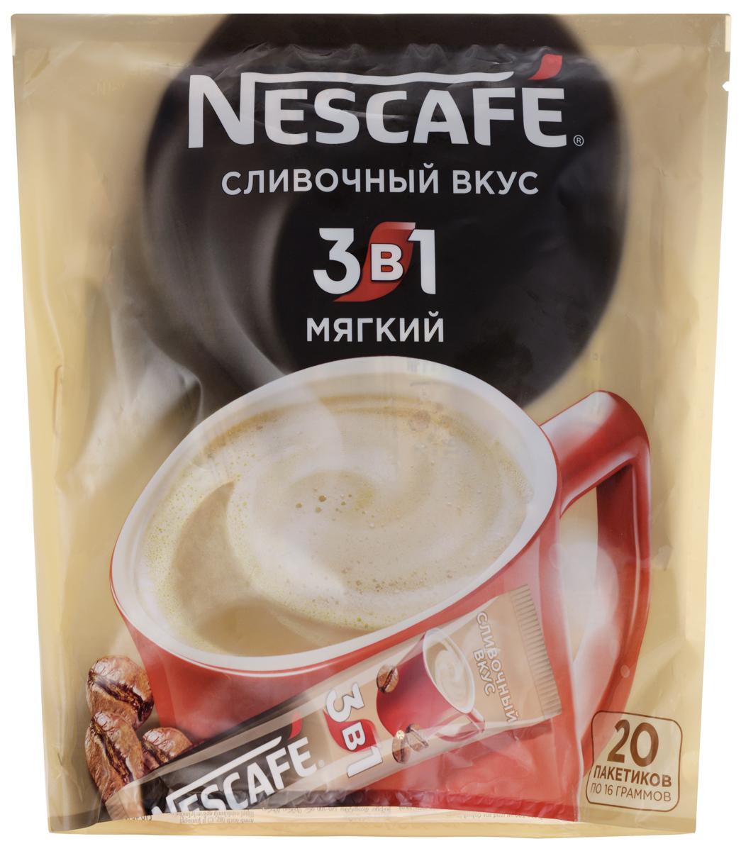 Nescafe 3 в 1 Мягкий кофе растворимый, 20 шт