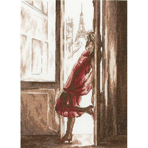 Набор для вышивания крестом RTO Утро в Париже, 26 х 37 смM436Красивый рисунок-вышивка, выполненный на канве, выглядит оригинально и всегда модно. Работа, сделанная своими руками, создаст особый уют и атмосферу в доме и долгие годы будет радовать вас и ваших близких. Набор для вышивания RTO Утро в Париже содержит все необходимые материалы. Вышивка выполняется техникой счетный крест. В состав набора входит: - канва Aida 14 белого цвета (100% хлопок, 5,5 клеток = 1 см, рисунок не нанесен); - вышивальные нитки-мулине DMC на карте, разобранные по цветам (23 цвета, 100% хлопок); - символьная схема; - инструкция; - игла для вышивания.