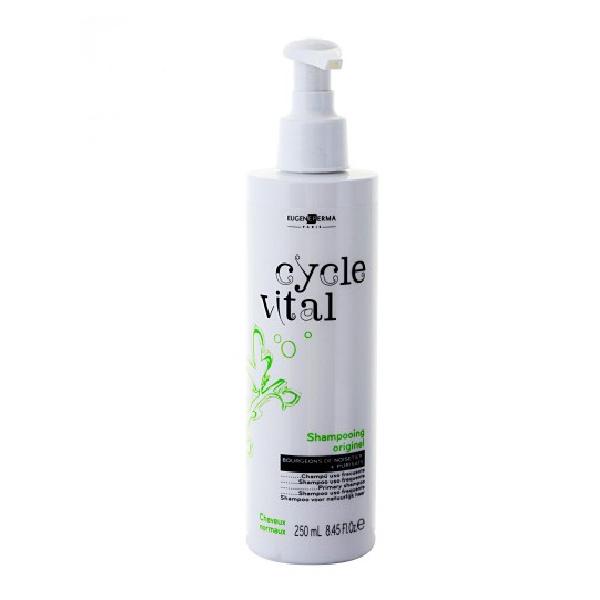 Eugene Perma Shampooing Cycle Vital Originel - Шампунь для нормальных волос 250 мл21024494Шампунь основной для нормальных волос c нежным растительным ароматом, мягко очищает ваши волосы, делая их сияющими. Имеет приятный растительный запах, хорошо удаляет загрязнения с волос, восстанавливает их структурную целостность и наполняет энергией, придает мягкость и блеск.