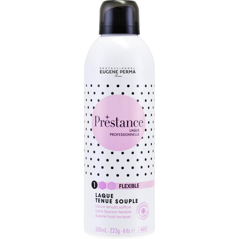 Eugene Perma Лак для волос легкой фиксации Prestance 300 мл21027760Замечательное средство для укладки, придающее волосам естественный и подвижный вид. Волосы не склеиваются, не утяжеляются и невероятно блестят, а благодаря солнцезащитным фильтрам не выгорают. Лак легко счесывается расческой.