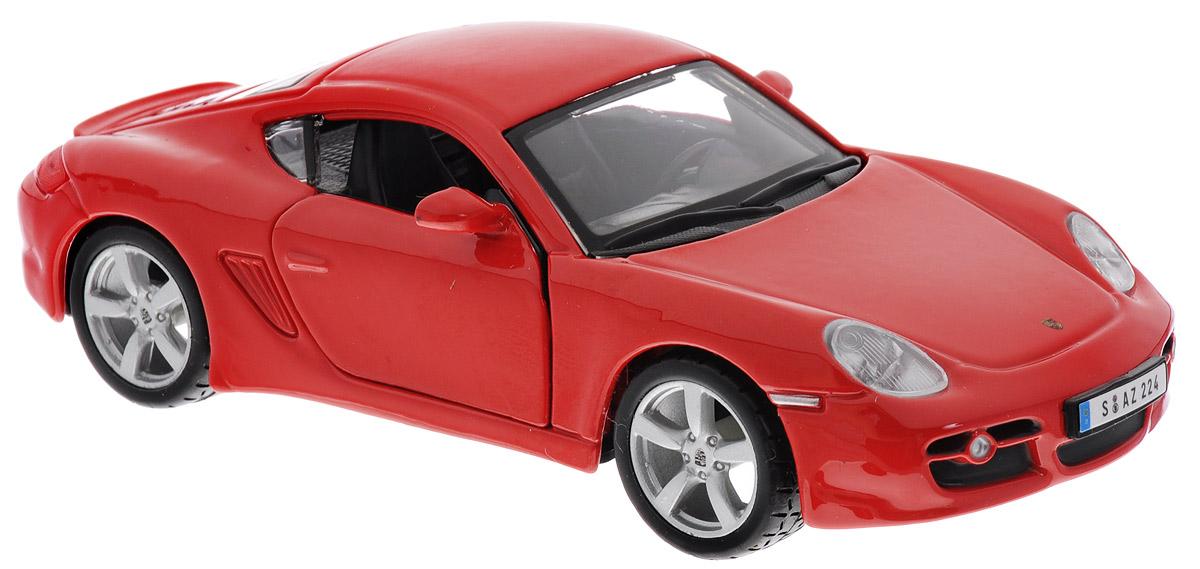 Bburago Модель автомобиля Porsche Cayman S цвет красный18-43003Модель автомобиля Bburago Porsche Cayman S будет отличным подарком как ребенку, так и взрослому коллекционеру. Благодаря броской внешности, а также великолепной точности, с которой создатели этой модели масштабом 1:32 передали внешний вид настоящего автомобиля, модель станет подлинным украшением любой коллекции авто. Машина будет долго служить своему владельцу благодаря металлическому корпусу с элементами из пластика. Дверцы машины открываются, шины обеспечивают отличное сцепление с любой поверхностью пола. Модель автомобиля Bburago Porsche Cayman S обязательно понравится вашему ребенку и станет достойным экспонатом любой коллекции.