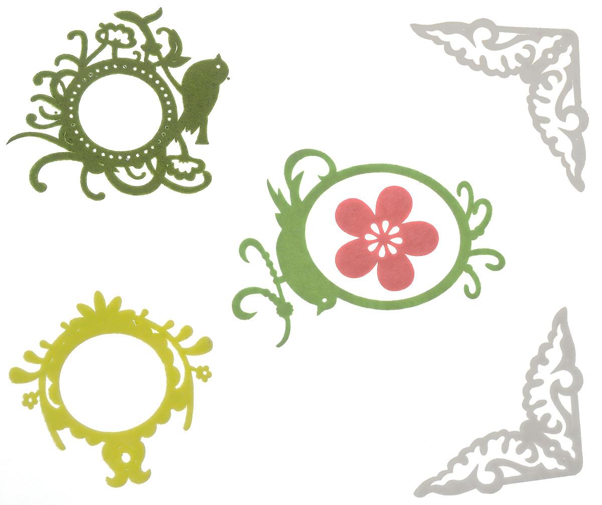 Декоративное украшение на клеевой основе RTO Рамки и уголки, 6 шт. RH-092RH-092Декоративные украшения RTO Рамки и уголки изготовлены из фетра (полиэстера). С обратной стороны изделия оснащены клейкой основой. Такой набор прекрасно подойдет для декора и оформления творческих работ в различных техниках, таких как скрапбукинг, шитье, декор, изготовление бижутерии, бантиков. В наборе - 6 украшений. Средний размер украшения: 7 см х 6 см.