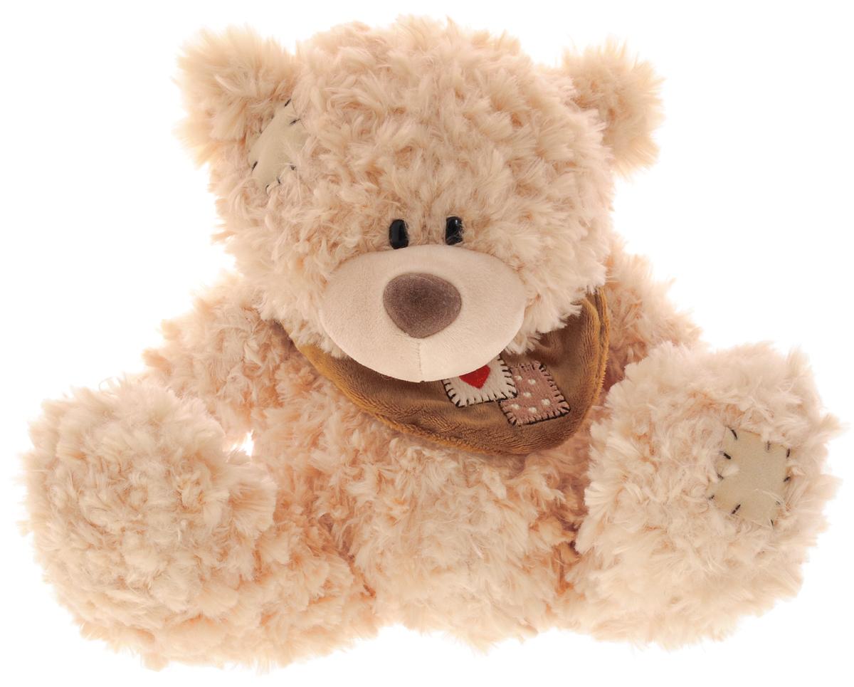 Plush Apple Мягкая игрушка Медведь с шарфом 25 смK76163A,A1_ светло-коричневыйМягкая игрушка Plush Apple Медведь с шарфом, выполненная в виде симпатичного медвежонка, вызовет умиление и улыбку у каждого, кто ее увидит. Плюшевый мишка произведен из безопасных и высококачественных материалов. Мишка украшен стильным шарфом. У него пушистая приятная шерстка, черные глаза-бусинки и большие лапки. С ним можно спать, или играть в сюжетно-ролевые игры. Удивительно мягкая игрушка принесет радость и подарит своему обладателю мгновения нежных объятий и приятных воспоминаний.
