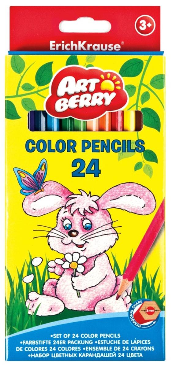 Artberry Набор цветных карандашей 24 штPG605-CX/синий/серебристыйШестигранные цветные карандаши с толщиной грифеля 3 мм, толщина самого карандаша 7 мм. Увеличенное количество цветовых пигментов для еще более ярких и насыщенных цве тов. Корпус выполнен из качественной древесины. Грифели не крошатся при рисовании, при падении не трескаются. Карандаши легко, без усилий затачиваются. Стружка аккуратная, тонкая, без ворсинок.