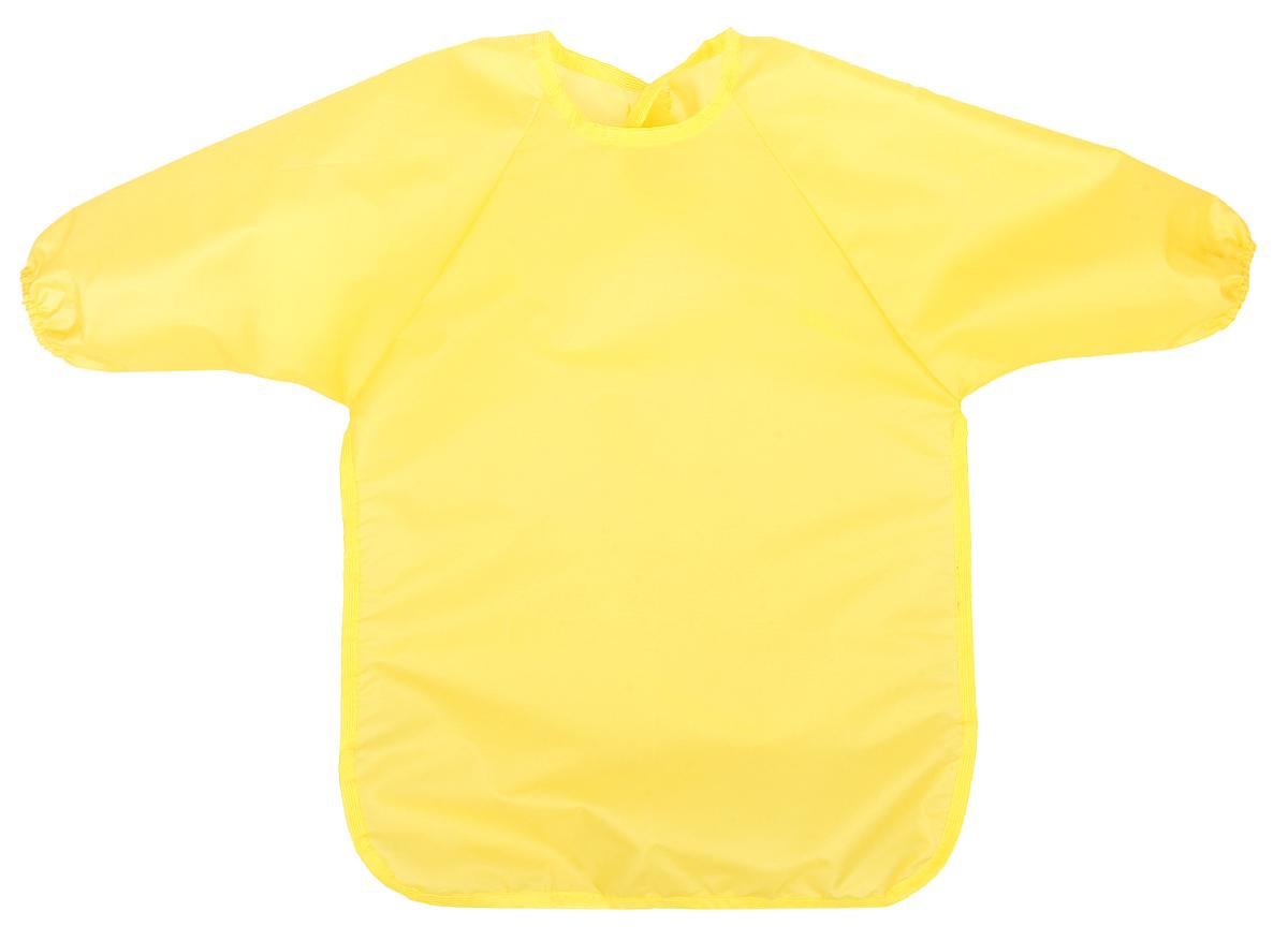 Спортбэби Фартук для детского творчества возраст 1-2 года цвет желтыйзо.0008_желтыйФартук для детского творчества Спортбэби надежно защитит одежду и руки ребенка во время занятий рисованием, лепкой и ручным трудом. Фартук с двумя рукавами изготовлен из плотного полиэстера. Он надевается спереди как накидка и застегивается на спине с помощью липучки. С фартуком Спортбэби ваш малыш сможет смело рисовать, не боясь испачкаться о свой шедевр, лепить из пластилина и заниматься многими творческими делами. Также фартук удобен при кормлении. Рекомендуемый возраст - 1-2 года.