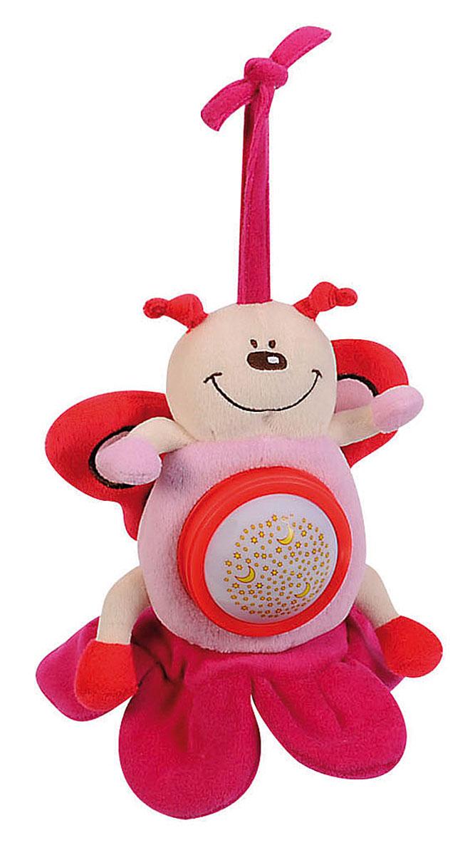 Simba Музыкальная игрушка-подвеска Плюшевые насекомые цвет розовый4019093_ розовыйМузыкальная игрушка-подвеска Simba Плюшевые насекомые, несомненно, надолго заинтересует вашего малыша. Изготовлена игрушка из текстильного, приятного на ощупь материала. Это симпатичное и очень милое плюшевое насекомое в виде бабочки, станет отличным развлечением для вашего карапуза. С ней можно просто играть, или использовать в качестве подвески над кроваткой, или в коляске, при помощи специальной тесьмы, предусмотренной в верхней части насекомого. При нажатии на животик, игрушка воспроизводит нежную мелодию и светится разноцветными лучами. Приятное звучание игрушки концентрирует внимание малыша, развивает слуховое и пространственное восприятие. Яркие контрастные цвета развивают зрительное восприятие. Разнофактурные материалы развивают тактильные ощущения. Для работы требуются 3 батарейки типа ААА (комплектуется демонстрационными).