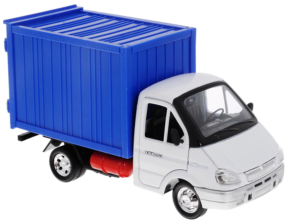 ТехноПарк Модель автомобиля ГазельGAZKUNG04-RМодель автомобиля ТехноПарк Газель - это копия настоящего автомобиля в масштабе 1:43. Газель - серия бортовых автомобилей и шасси с кабиной. Данные автомобили получили широкое распространение в городских условиях, а также в сельской местности за счет своей динамичности, малых форм и достаточно значительной грузоподъемности (до 1500 кг). Погрузочная высота автомобиля составляет всего 1 метр, что существенно облегчает работу по загрузке кузова. Автомобиль Газель относится к классу малотоннажных грузовых автомобилей, имеющих полную массу, не превышающую 3,5 тонны, что позволяет эксплуатировать их водителем, имеющим права управления легковым автомобилем. Передние двери модели, капот, а также двери кузова открываются. Модель оснащена инерционным механизмом: стоит немного отвести машинку назад и отпустить - она быстро поедет вперед. Модель автомобиля ТехноПарк Газель станет отличным подарком как для юных любителей техники, так и для взрослых коллекционеров.