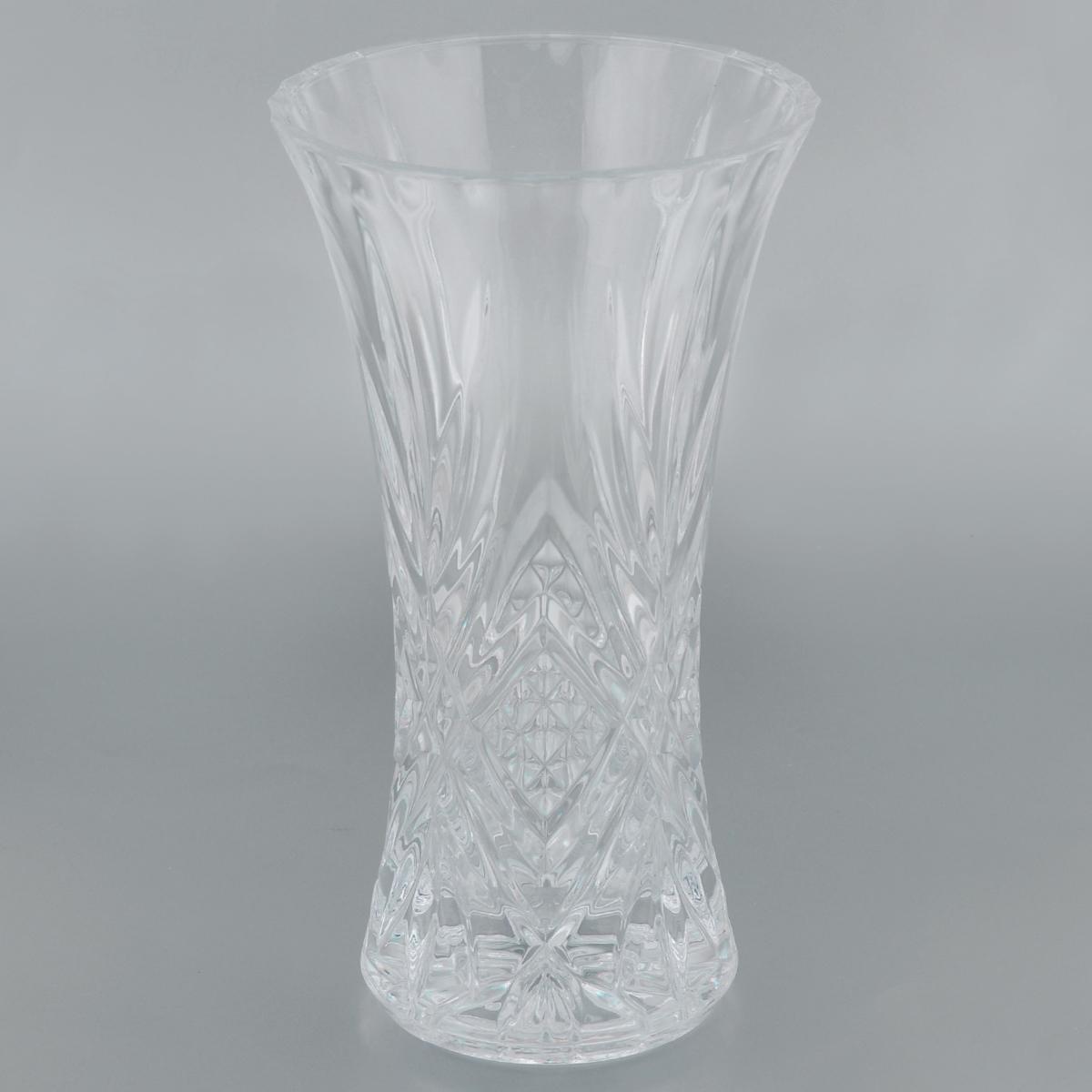 Ваза Cristal Darques Masquerade, высота 30 смG5540Изящная ваза Cristal Darques Masquerade изготовлена из высококачественного стекла Diamax, отличающегося необыкновенной прозрачностью и великолепным сиянием. Ваза оформлена рельефным рисунком, что делает ее изящным украшением интерьера. Ваза Cristal Darques Masquerade дополнит интерьер офиса или дома и станет желанным и стильным подарком. Диаметр вазы (по верхнему краю): 16,1 см. Диаметр дна: 12 см.