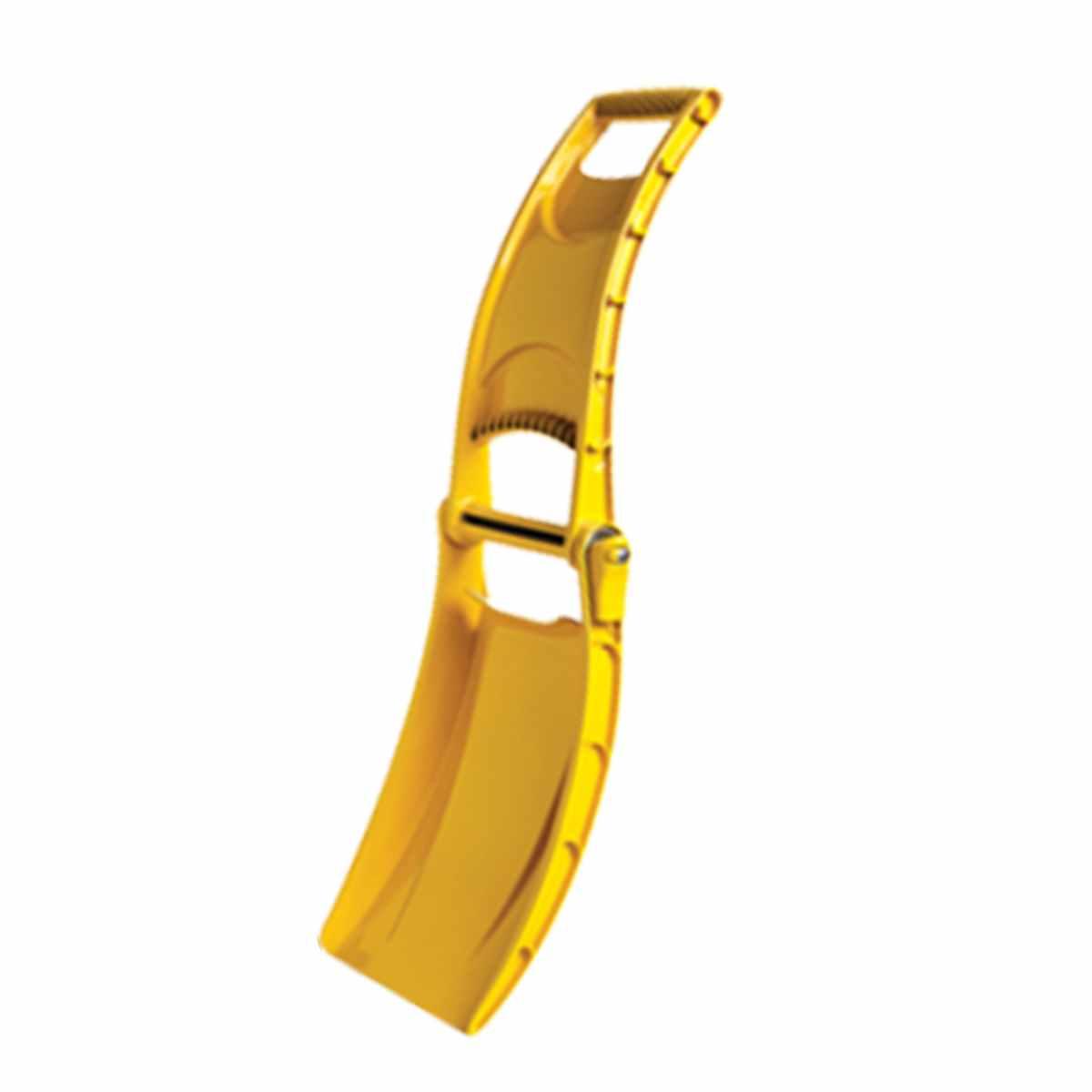 Лопата-трансформер МастерПрофАС.110006Лопата-трансформер. Можно использовать как ограждение или предупреждающий знак . Яркий знак обозначит габариты или предупредит об опасности. Привлекательный, современный, эргономичный дизайн . Вес 850 гр . В сложенном виде имеет габариты 42 см х 25 см х 8 см, почти не занимает места в багажнике автомобиля, удобно крепится к рюкзаку, велосипеду или снегоходу. Складной механизм на основе массивного металлического стержня жестко фиксируется, лопата свободно поднимает вес до 12 кг. Выполнена из высококачественного полипропилена, имеет гладкую износостойкую поверхность, ребра жесткости и удобную ручку, конструкция которой защищает руки во время работы. Материал лопаты морозостоек. Выдержит перепады температуры от +50 до -50 0С без опасения, что к нему примерзнут перчатки или руки. Длина: 42 см. Ширина: 25 см. Глубина: 8 см. Вес: 0,85 кг.