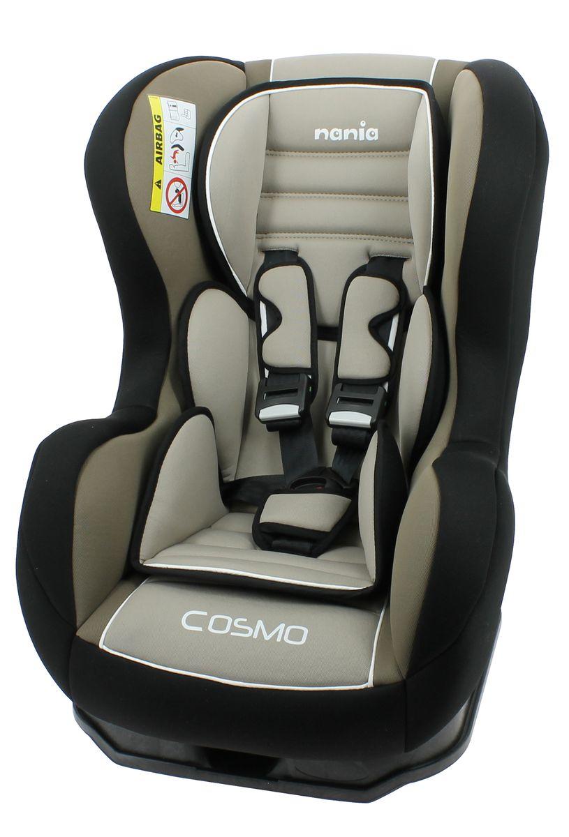 Nania Автокресло Cosmo SP Luxe Agora Sable до 18 кг82003Автокресло Nania Cosmo SP относится к группе 0-1, от рождения до 4-х лет (0-18 кг). Соответствует стандартам ECE R44/04. Автокресло Nania Cosmo SP имеет специальный мягкий вкладыш и подголовник. Дополнительная усиленная боковая защита, 3 положения спинки, 5-ти точечный ремень безопасности с удобной системой натяжения. Новая система крепления автокресла облегчает его установку в автомобиль. Надежное крепление к автомобильному сиденью по ходу движения автомобиля (ремень автомобиля проходит между основой и корпусом автокресла). Устанавливается в автомобилях с 3-х точечными ремнями безопасности на переднем или заднем сиденье. Автокресло Nania Cosmo SP было разработано на основе требований безопасности, а также ортопедических факторов: мягкие обивка и подушки, а также анатомическая форма обеспечивает комфорт даже в дальних поездках. Система боковой защиты Side Protection (SP) обеспечивает необходимую безопасность даже при боковом столкновении. 5-ти точечные ремни...