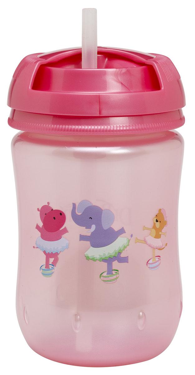 Dr.Brown's Чашка-поильник с трубочкой 270 мл цвет розовый
