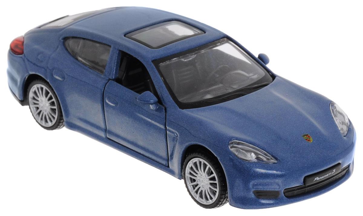ТехноПарк Модель автомобиля Porsche Panamera S цвет синий67303_синийМодель автомобиля ТехноПарк Porsche Panamera S станет отличным подарком любому мальчику! Все дети хотят иметь в наборе своих игрушек ослепительные, невероятные и крутые автомобили. Тем более, если это автомобиль известной марки с проработкой всех деталей, удивляющий приятным качеством и видом. Одной из таких моделей является автомобиль Porsche Panamera S. Это точная копия настоящего авто в масштабе 1:43. Передние двери машины открываются. Машинка имеет инерционный механизм. Порадуйте своего малыша такой игрушкой!