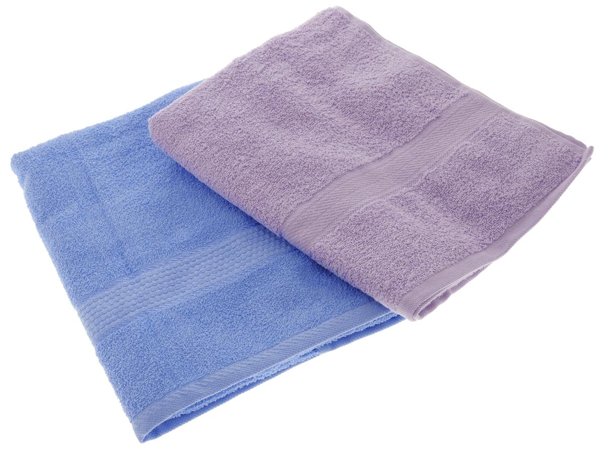 Набор махровых полотенец Aisha Home Textile, цвет: голубой, сиреневый, 70 х 140 см, 2 штУзТ-ПМ-104-06-05Набор Aisha Home Textile состоит из двух махровых полотенец, выполненных из натурального 100% хлопка. Изделия отлично впитывают влагу, быстро сохнут, сохраняют яркость цвета и не теряют формы даже после многократных стирок. Полотенца Aisha Home Textile очень практичны и неприхотливы в уходе. Комплектация: 2 шт.