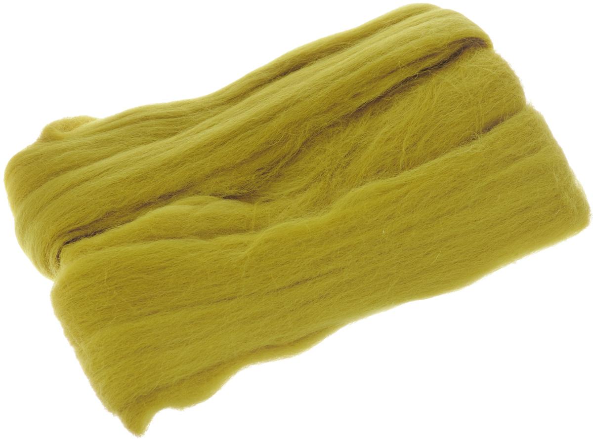 Шерсть для валяния RTO, цвет: горчичный (08), 50 гWF50/08Шерсть для валяния RTO идеально подходит для сухого и мокрого валяния. Шерсть RTO не линяет при валянии и последующей стирке, легко расчесывается и разделяется на пряди. Готовые изделия из натуральной шерсти RTO хорошо поддаются покраске и тонированию. Валяние шерсти - это особая техника рукоделия, в процессе которой из шерсти для валяния создается рисунок на ткани или войлоке, объемные игрушки, панно, декоративные элементы, предметы одежды или аксессуары. Только натуральная шерсть обладает способностью сваливаться или свойлачиваться.