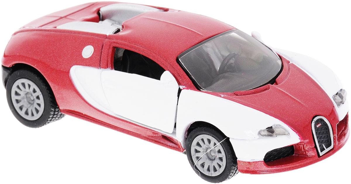 Siku Модель автомобиля Bugatti EB 16.4 Veyron1305Модель автомобиля Siku Bugatti EB 16.4 Veyron станет замечательным подарком для любителей техники всех возрастов. Модель представляет собой реалистичную копию гиперкара Bugatti EB 16.4 Veyron, модификация которого в 2010 году установила рекорд максимальной скорости для серийных автомобилей в 431 км/ч. Машинка отличается высокой степенью детализации. Корпус модели выполнен из металла, детали изготовлены из ударопрочной пластмассы. Дверцы машинки открываются, прорезиненные колеса вращаются. Ваш ребенок часами будет играть с такой игрушкой, придумывая различные истории и устраивая соревнования.