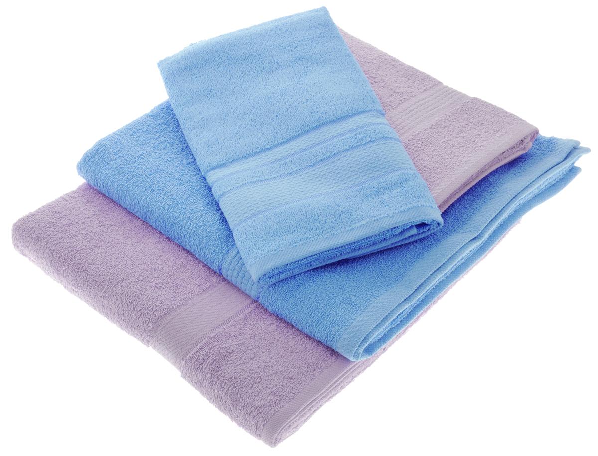 Набор махровых полотенец Aisha Home Textile, цвет: голубой, сиреневый, 4 штУзТ-ПМ-103-06-05Набор Aisha Home Textile состоит из двух полотенец 50 х 90 см и двух банных 70 х 140 см. Полотенца выполнены из натурального 100% хлопка и махровой ткани. Изделия отлично впитывают влагу, быстро сохнут, сохраняют яркость цвета и не теряют формы даже после многократных стирок. Полотенца Aisha Home Textile очень практичны и неприхотливы в уходе. Комплектация: 4 шт.