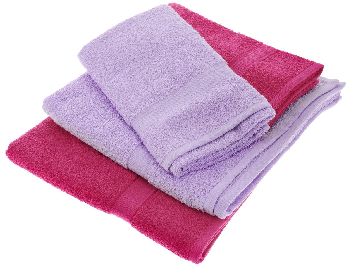 Набор махровых полотенец Aisha Home Textile, цвет: сиреневый, малиновый, 4 штУзТ-ПМ-103-28-05Набор Aisha Home Textile состоит из двух полотенец 50 х 90 см и двух банных 70 х 140 см. Полотенца выполнены из натурального 100% хлопка и махровой ткани. Изделия отлично впитывают влагу, быстро сохнут, сохраняют яркость цвета и не теряют формы даже после многократных стирок. Полотенца Aisha Home Textile очень практичны и неприхотливы в уходе. Комплектация: 4 шт.