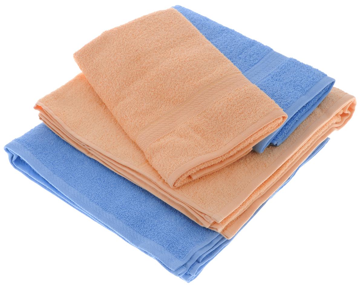 Набор махровых полотенец Aisha Home Textile, цвет: голубой, персиковый, 4 штУзТ-ПМ-103-06-24Набор Aisha Home Textile состоит из двух полотенец 50 х 90 см и двух банных 70 х 140 см. Полотенца выполнены из натурального 100% хлопка и махровой ткани. Изделия отлично впитывают влагу, быстро сохнут, сохраняют яркость цвета и не теряют формы даже после многократных стирок. Полотенца Aisha Home Textile очень практичны и неприхотливы в уходе. Комплектация: 4 шт.