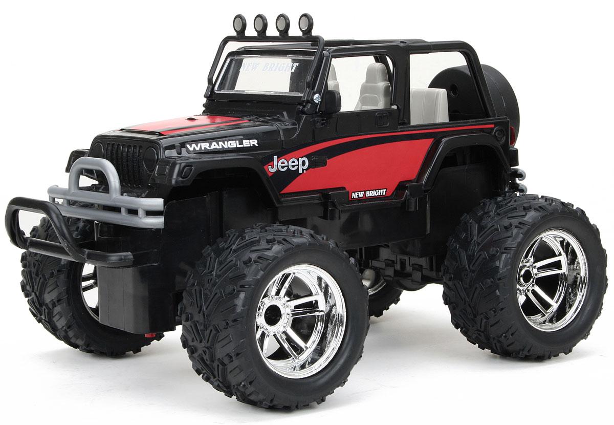 New Bright Радиоуправляемая модель Jeep Wrangler цвет красный черный масштаб 1:16