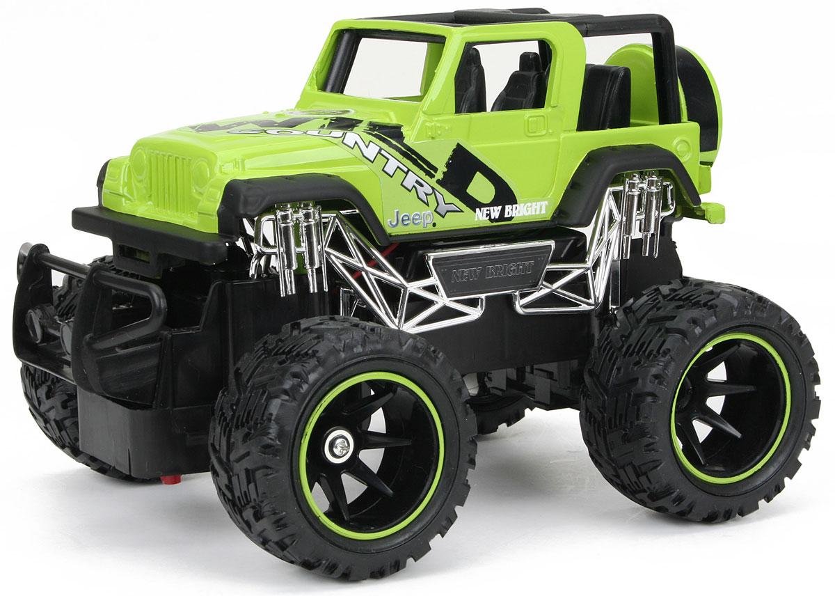 New Bright Радиоуправляемая модель Jeep Wrangler цвет салатовый масштаб 1: 24