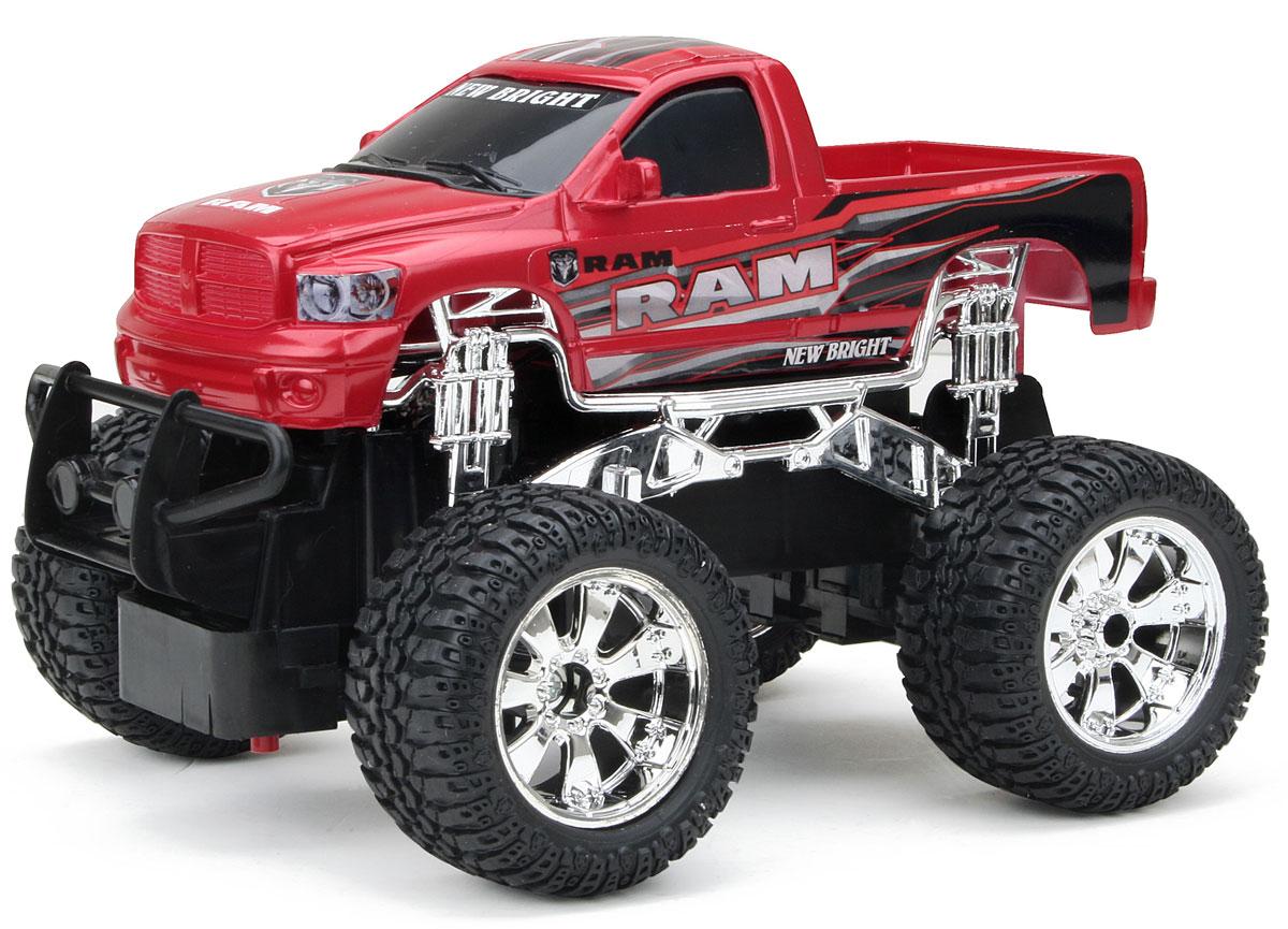 New Bright Радиоуправляемая модель Ram цвет красный масштаб 1:242424RРадиоуправляемая модель New Bright Ram обязательно привлечет внимание вашего ребенка и станет его любимой игрушкой. Это авто обладает неповторимым провокационным стилем и спортивным характером. Уменьшенная копия реального автомобиля выполнена в точной детализации в масштабе 1:24. Управление машинкой происходит с помощью пульта. Пульт управления работает на частоте 27 MHz. Возможные движения: вперед, назад, направо, налево. Потрясающая маневренность, динамика и покладистость - отличительные качества этой модели. Большие колеса машины прорезинены и обеспечивают плавный ход, машинка не портит напольное покрытие. Радиоуправляемые игрушки способствуют развитию координации движений, моторики и ловкости. Модель работает от 3 батареек типа АА (не входят в комплект). Пульт управления работает от 2 батареек типа АА (не входят в комплект).