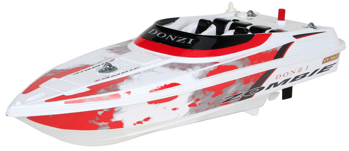 New Bright Катер на радиоуправлении Donzi Zombie цвет белый красный7142Катер на радиоуправлении New Bright Donzi Zombie поразит своей скоростью и маневренностью и доставит много приятных минут, которые вы сможете провести рядом с вашим юным любителем радиоуправляемых моделей. Обладая стремительными изгибами корпуса и полнофункциональным управлением, модели будут подвластны любые водоемы! Катер управляется при помощи пульта управления, может перемещаться вперед, назад, поворачивать влево и вправо. Пульт управления работает на частоте 27 MHz. Ваш ребенок часами будет играть с катером, придумывая различные истории и устраивая соревнования. Порадуйте его таким замечательным подарком! Для работы катера необходимо купить 4 батарейки типа АА (не входят в комплект), для работы пульта управления необходимо купить 2 батарейки типа АА (также не входят в комплект). Запрещается использовать катер в водоемах с растительностью, мусором и другими препятствиями на поверхности. Запрещается использовать при наличии быстрого...
