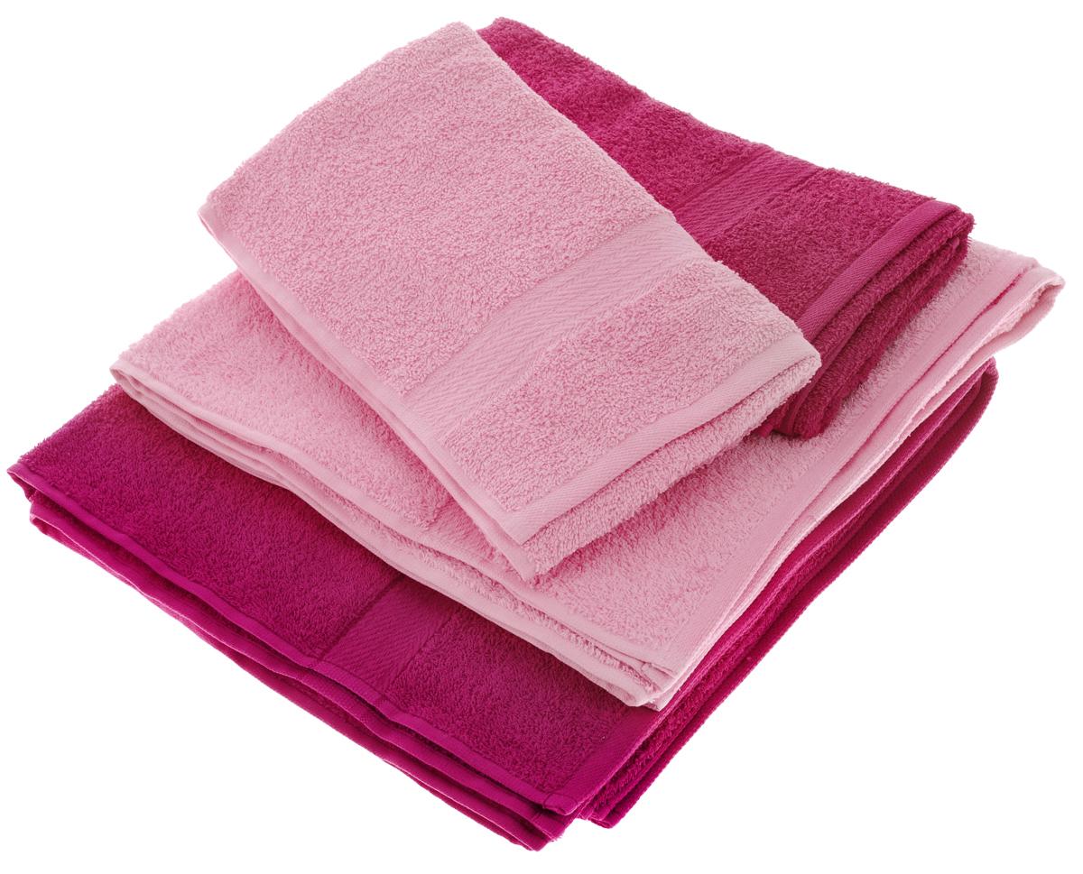 Набор махровых полотенец Aisha Home Textile, цвет: малиновый, розовый, 4 штУзТ-ПМ-103-28-04Набор Aisha Home Textile состоит из двух полотенец 50 х 90 см и двух банных 70 х 140 см. Полотенца выполнены из натурального 100% хлопка и махровой ткани. Изделия отлично впитывают влагу, быстро сохнут, сохраняют яркость цвета и не теряют формы даже после многократных стирок. Полотенца Aisha Home Textile очень практичны и неприхотливы в уходе. Комплектация: 4 шт.