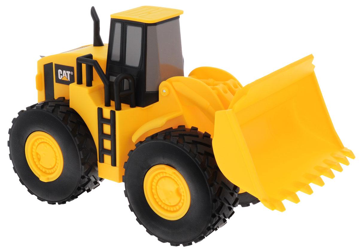 Toystate Погрузчик колесный Cat36712TS (6)Погрузчик колесный Toystate Cat создан в классическом стиле грузовой и строительной техники Cat. Корпус погрузчика создан из прочного, безопасного и качественного пластика. Игрушка оснащена подвижным ковшом. Малыш проведет с этой игрушкой много увлекательных часов, воспроизводя свою стройку. Ваш ребенок будет в восторге от такого подарка!