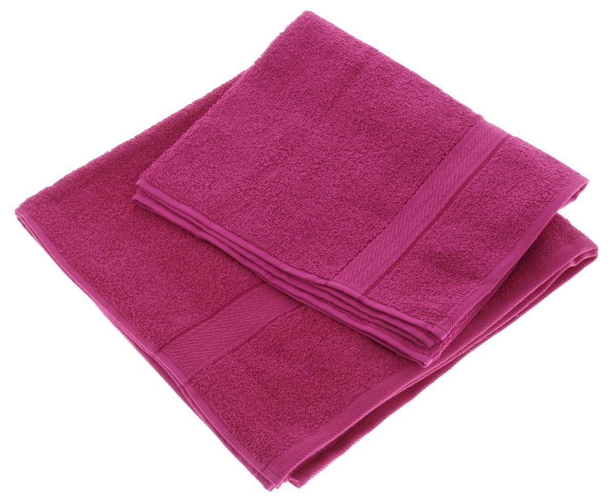 Набор махровых полотенец Aisha Home Textile, цвет: малиновый, 2 шт. УзТ-НПМ-102УзТ-НПМ-102-28Набор Aisha Home Textile состоит из двух махровых полотенец разного размера. В состав входит только натуральное волокно - 100% хлопок. Лаконичные бордюры подойдут для любого интерьера ванной комнаты. Полотенца прекрасно впитывают влагу и быстро сохнут. При соблюдении рекомендаций по уходу не линяют и не теряют форму даже после многократных стирок. Комплектация: 2 шт.
