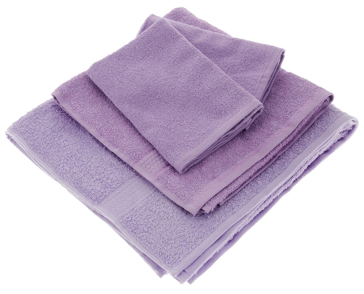 Набор махровых полотенец Aisha Home Textile, цвет: сиреневый, 4 шт. УзТ-НПБ-101-05УзТ-НПБ-101-05Набор Aisha Home Textile состоит из четырех махровых полотенец разного размера. Полотенца выполнены из натурального 100% хлопка и махровой ткани. Изделия отлично впитывают влагу, быстро сохнут, сохраняют яркость цвета и не теряют формы даже после многократных стирок. Полотенца Aisha Home Textile очень практичны и неприхотливы в уходе. Комплектация: 4 шт.