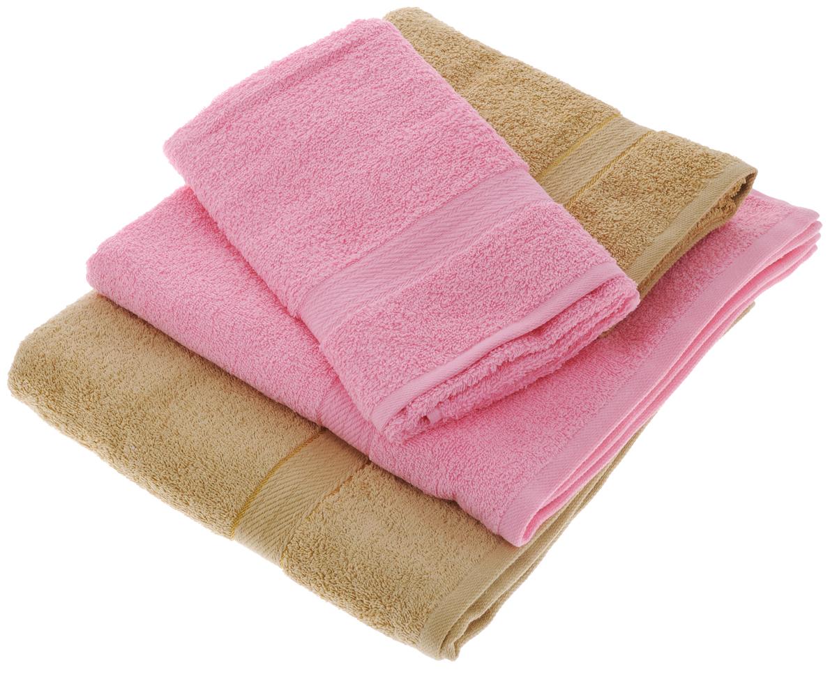 Набор махровых полотенец Aisha Home Textile, цвет: светло-коричневый, розовый, 4 штУзТ-ПМ-103-23-04Набор Aisha Home Textile состоит из двух полотенец 50 х 90 см и двух банных 70 х 140 см. Полотенца выполнены из натурального 100% хлопка и махровой ткани. Изделия отлично впитывают влагу, быстро сохнут, сохраняют яркость цвета и не теряют формы даже после многократных стирок. Полотенца Aisha Home Textile очень практичны и неприхотливы в уходе. Комплектация: 4 шт.