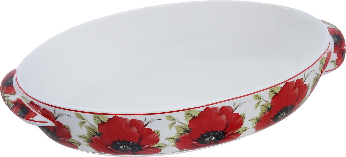 Блюдо для запекания и сервировки Elan Gallery Маки, 25 х 14,5 см503978Блюдо для запекания Elan Gallery Маки, изготовленное из фарфора, идеально подойдет для приготовления блюд в духовке, а также сервировки стола. Блюдо станет отличным дополнением к вашему кухонному инвентарю и подчеркнет ваш прекрасный вкус. Можно использовать в микроволновой печи. Размер (по верхнему краю): 25 см х 14,5 см. Высота стенки: 5 см.