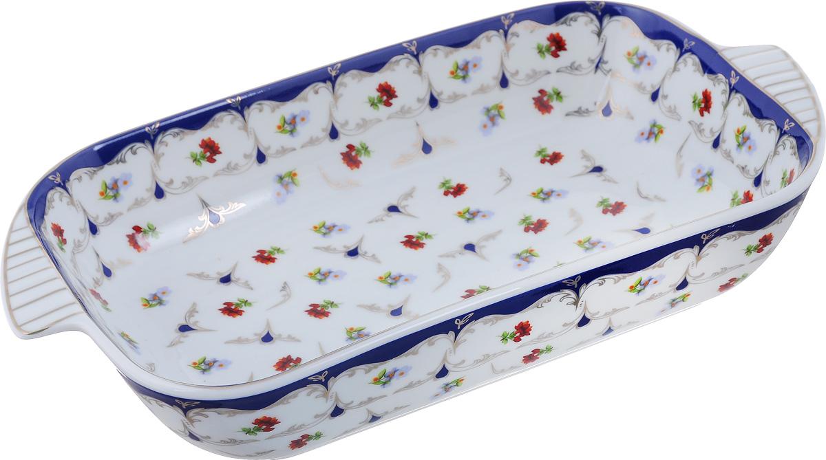 Шубница Elan Gallery Цветочек, 900 мл503532Шубница Elan Gallery Цветочек, выполненная из высококачественной керамики, идеальное блюдо для сервировки традиционного салата Сельдь под шубой или любого другого слоеного салата. Компактное, аккуратное блюдо с ручками для удобства станет незаменимым при любом застолье. Не рекомендуется применять абразивные моющие средства. Не использовать в микроволновой печи. Объем: 500 мл. Размер блюда (с учетом ручек): 28 см х 15 см.